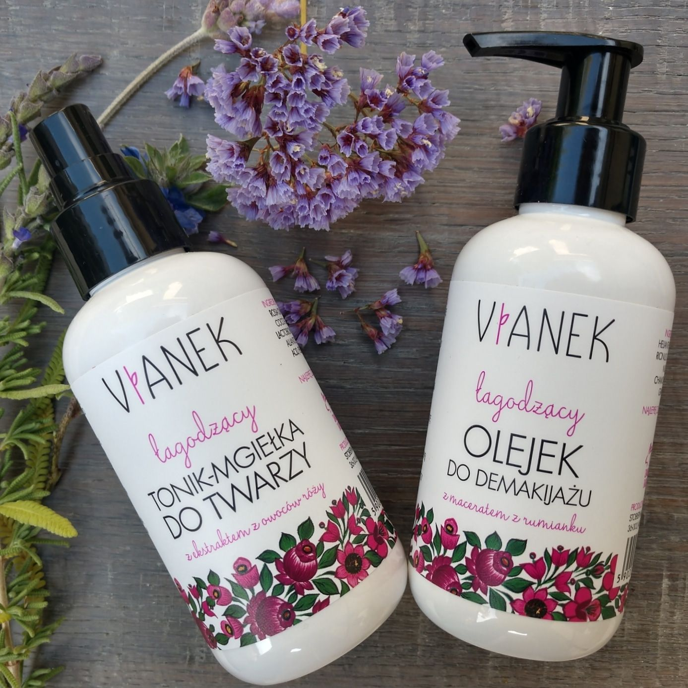 Vianek Gentle Oil Makeup Remover and Tonic Mist for
