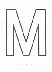 Letter M Coloring Page Preschool Letters Printable Alphabet Letters Printable Letter Templates