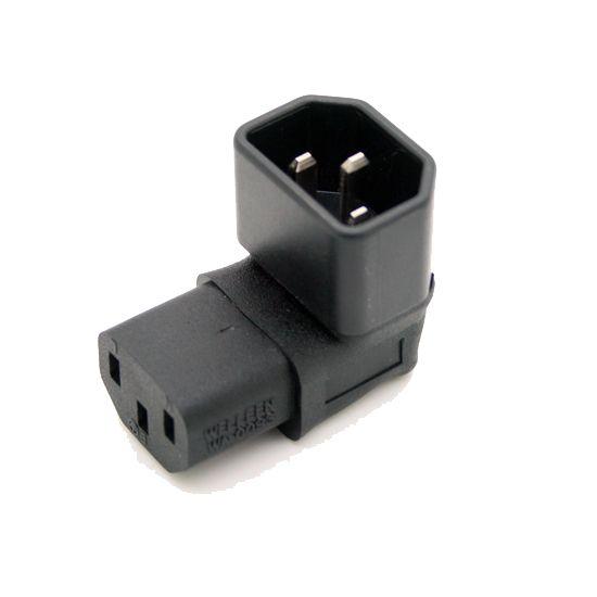 Haaks IEC Converteren Adapter, Down Schuine IEC 320 C14 tot C13 voor TV Muur C13 OM C14 # WPT604