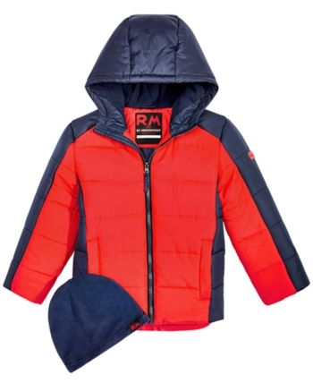 089276b92d45 Rm 1958 Toddler Boys Branson Colorblocked Puffer Jacket with Hat ...