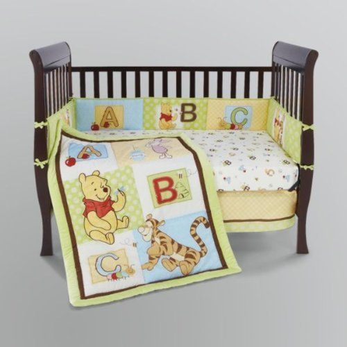winnie the pooh 5 piece baby crib bedding set abcs by crown