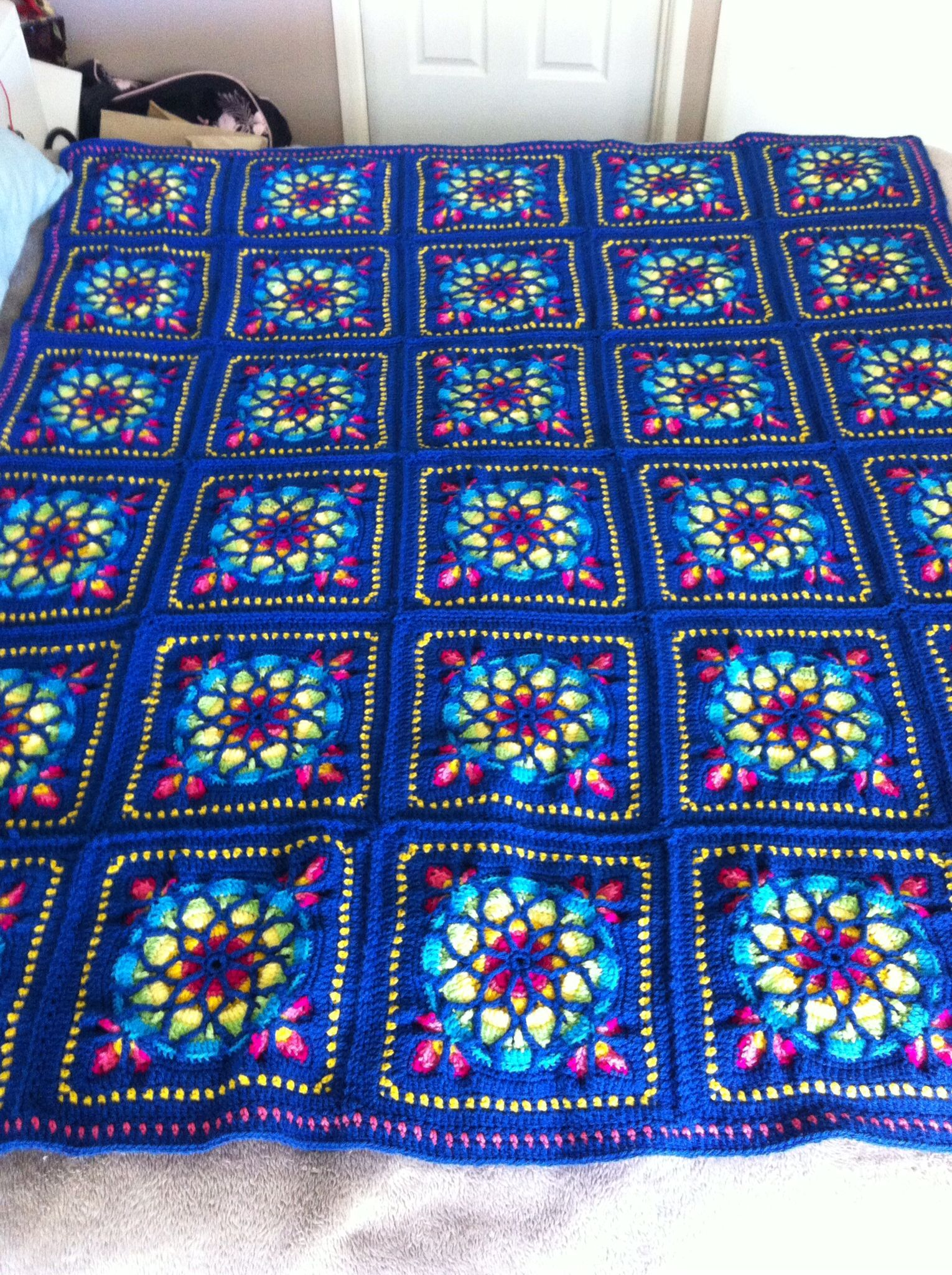 Stained Glass Window Afghan pattern by Melody MacDuffee | Pinterest ...