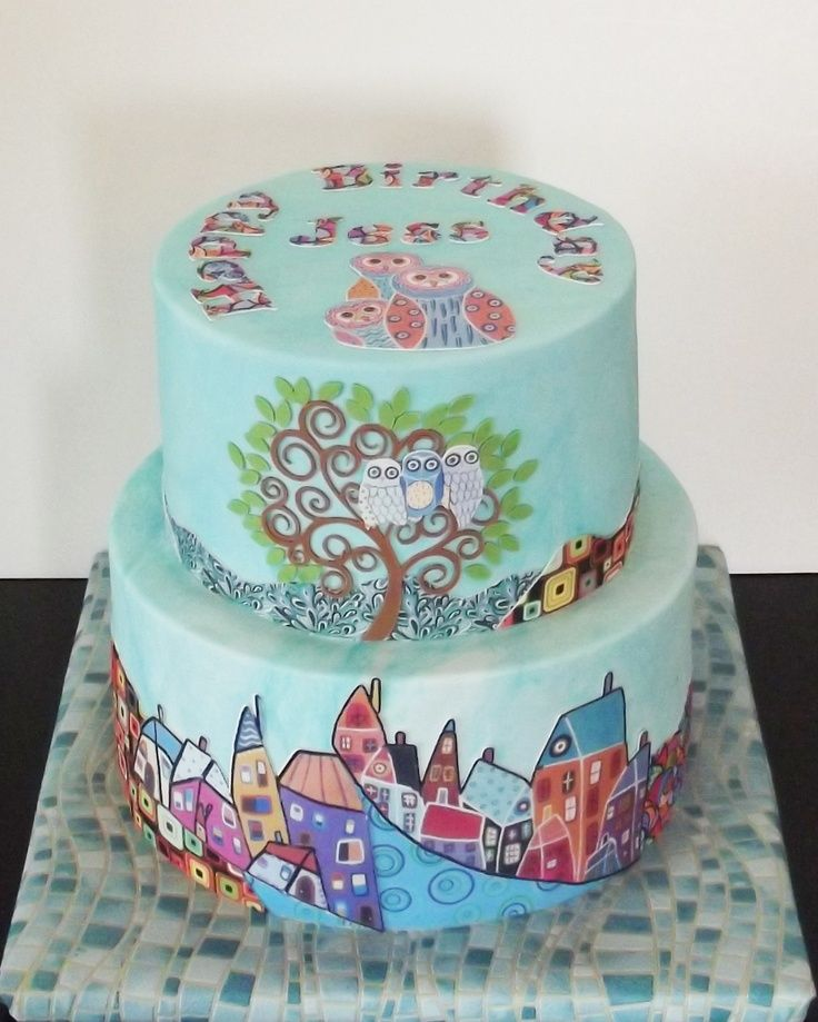 Art Deco Birthday Cakes Art Deco Birthday Cake Hand Painted