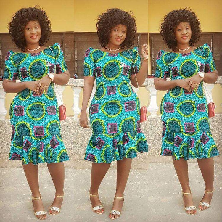 Short Kitenge 2019 Designs Kitenge Short Dress Is Very Cute African Fashion African Dresses For Women Latest African Fashion Dresses