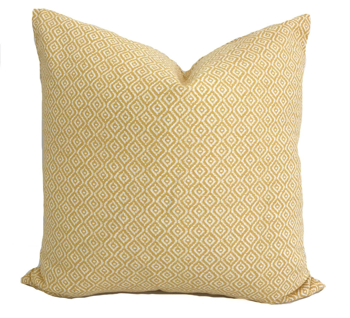 Yellow Pillow Cover Yellow Throw Pillow Yellow Decorative Pillow  ~ What Size Throw Pillow For Sofa