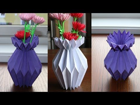 How To Make Paper Flower Vase Step By