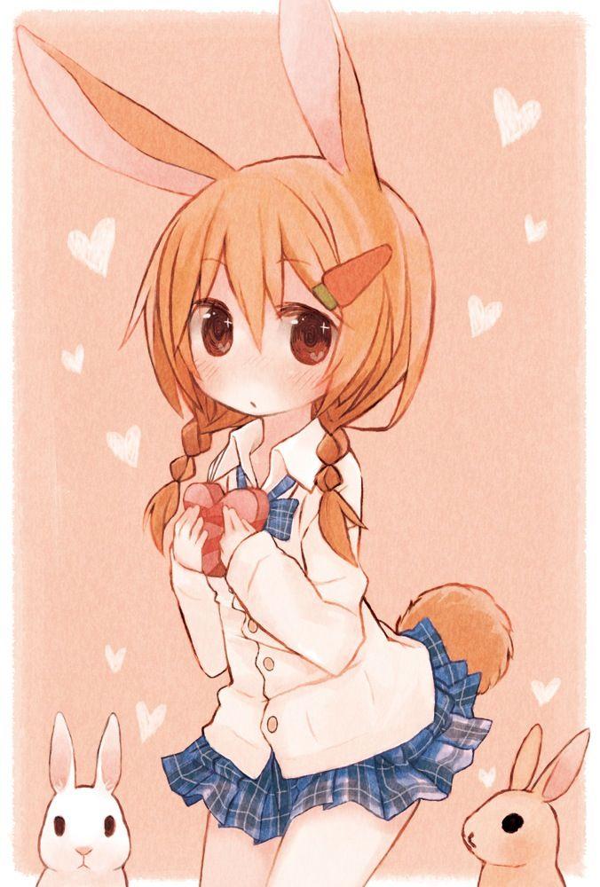 cute anime girls on kawaii pinterest anime bunny and kawaii