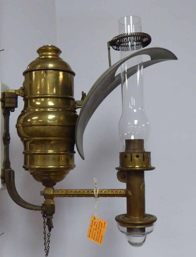 19th Century Very Rare Railroad Car Gas Sconce Lamp By Adams And Westlake 1 195 00 Booth 314 Oil Lamps Sconce Lamp Lamp