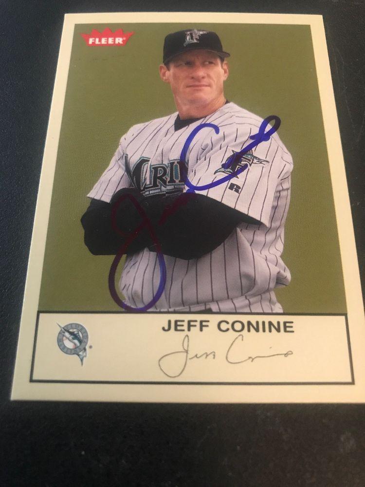 Jeff Conine Florida Miami Marlins Autographed Card Mets Royals Reds