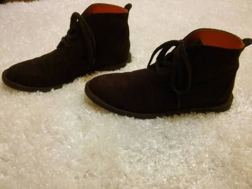 COLE-HAAN-Champ-Brown-Suede-Leather-Lace-up-Ankle-Boots-Boys-Size-5-or- Womens-7 0e20a46c8