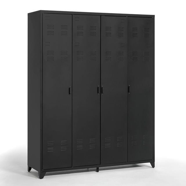 armoire 4 portes en m tal hiba la redoute interieurs furniture pinterest armoire. Black Bedroom Furniture Sets. Home Design Ideas