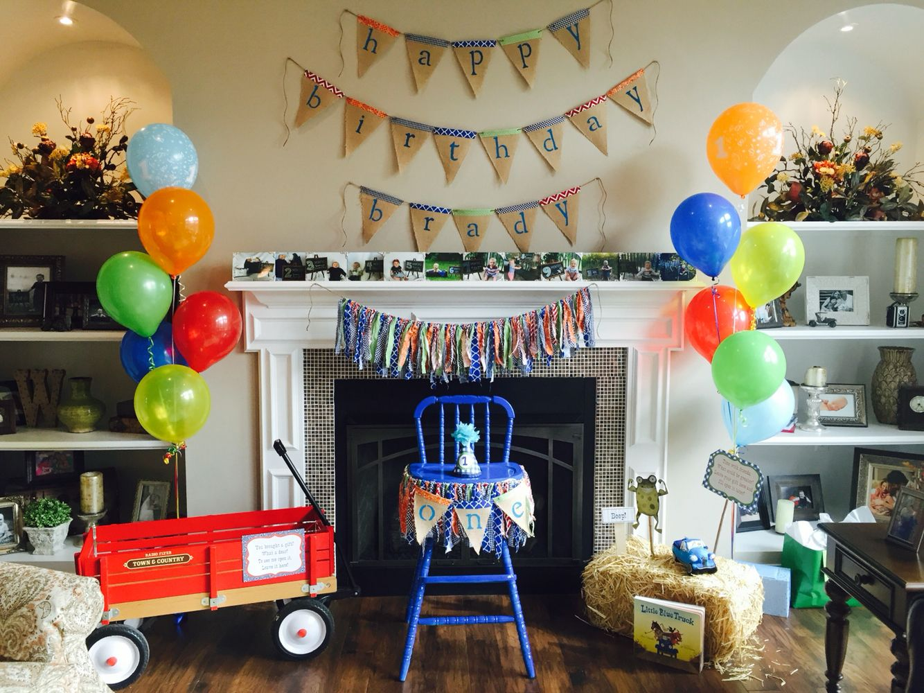 1st Birthday... Baby Boy Hot Air Balloon Party!!! Hot