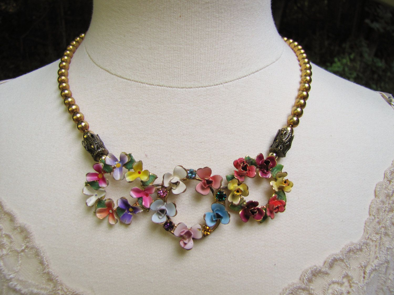 The Three Graces- Vintage Assemblage Statement Necklace ...
