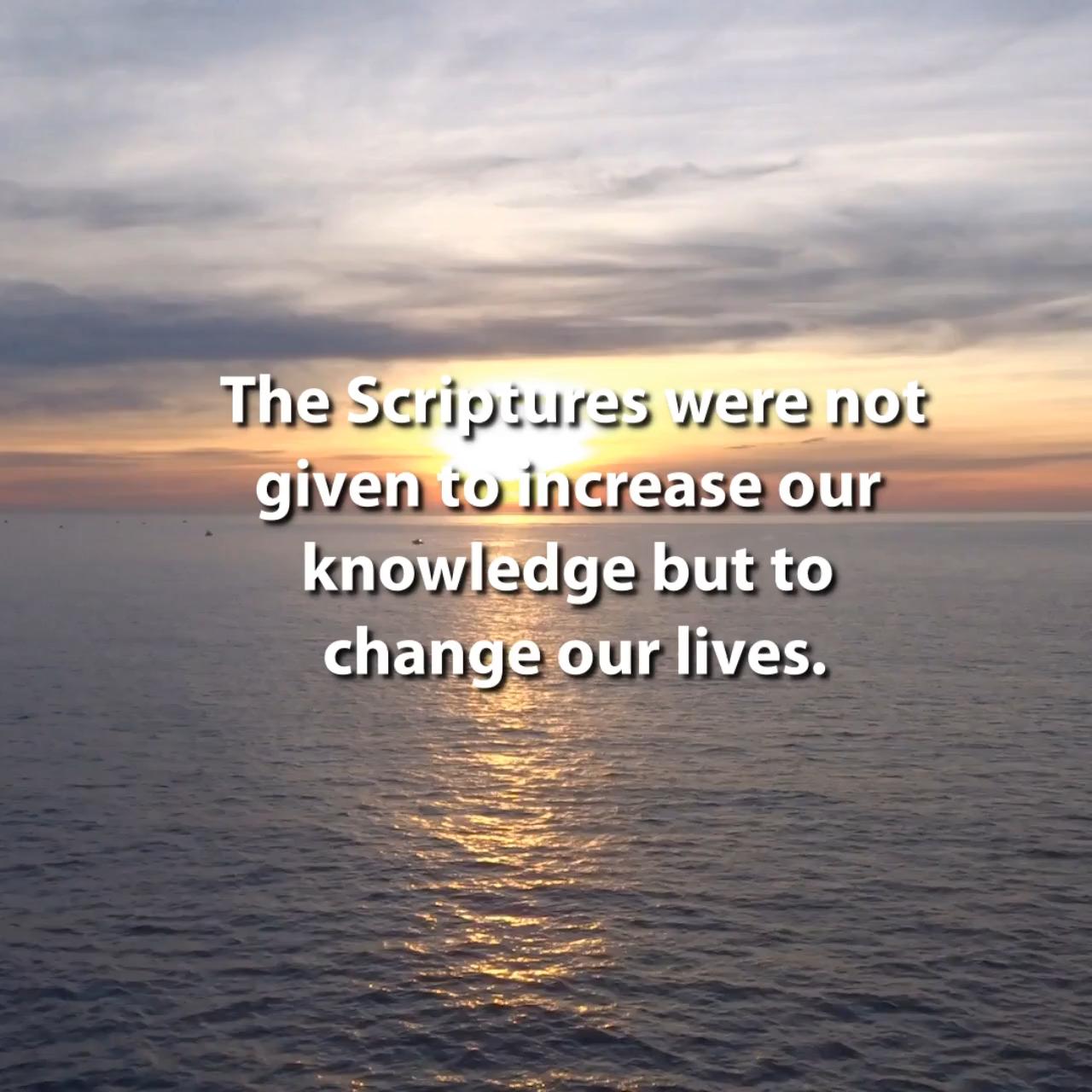 Scripture Changes Lives