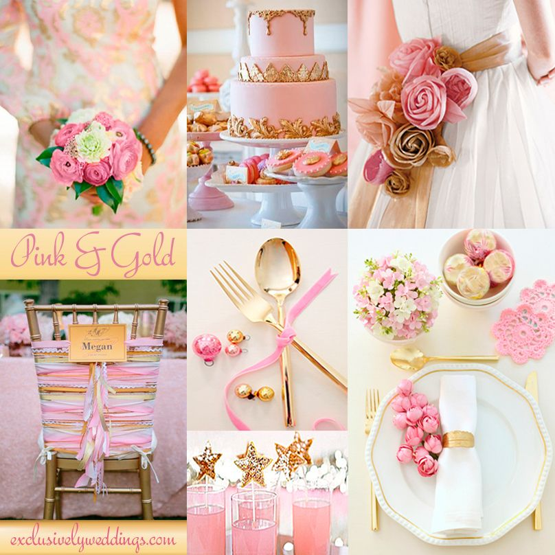 Add Glamour To Your Wedding With Gold 5 Dazzling Combinations Exclusively Weddings Pink Wedding Colors Gold Wedding Colors Pink And Gold Wedding