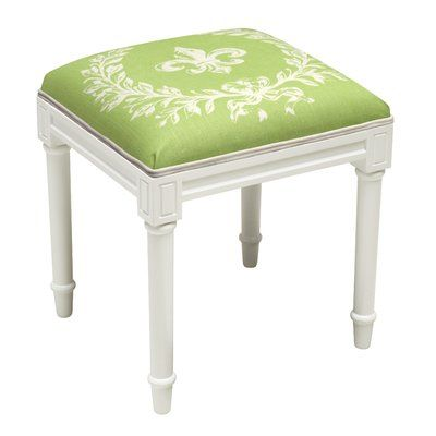 Cool 123 Creations Fleur De Lis Vanity Stool Frame Color Top Theyellowbook Wood Chair Design Ideas Theyellowbookinfo