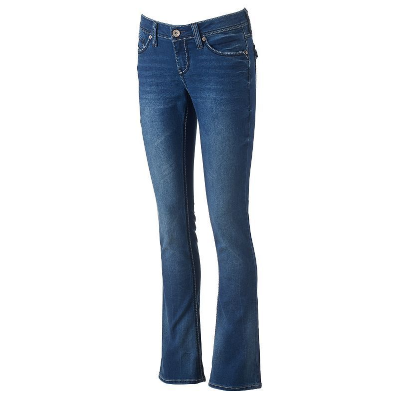 Juniors' Hydraulic Flap-Pocket Slim Bootcut Jeans, Girl's, Size: