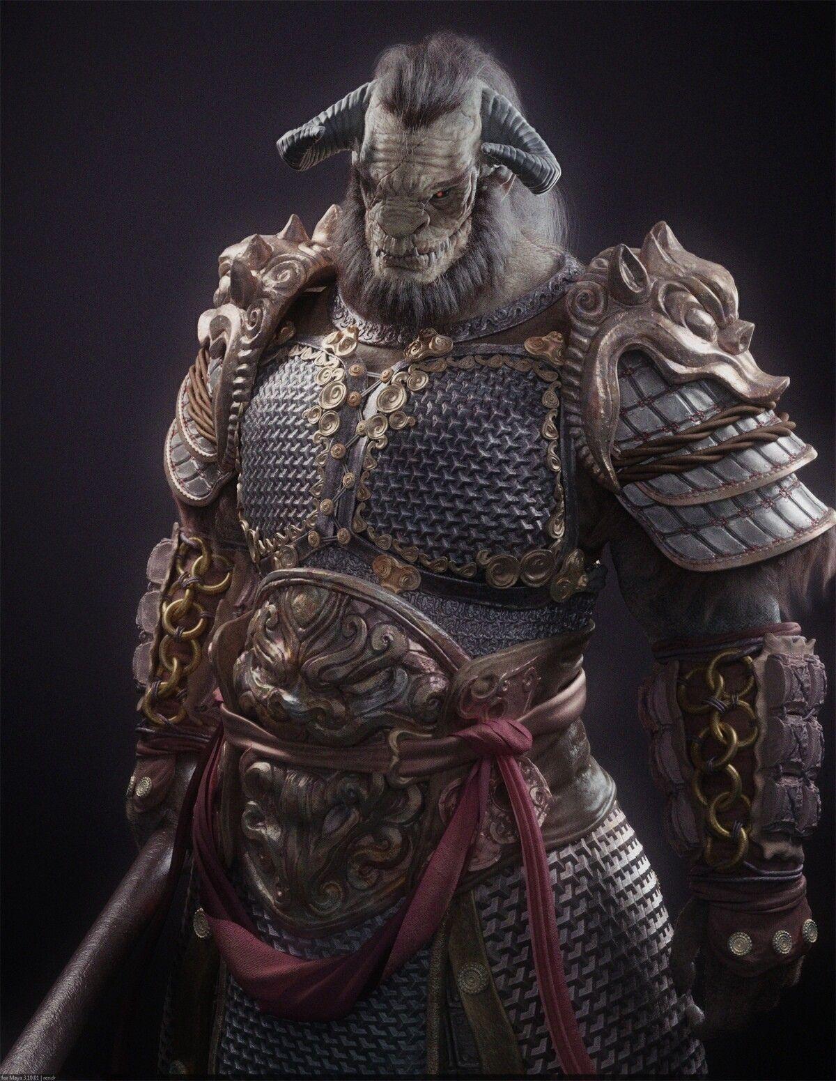 Bull Demon King, yipeng zhang on ArtStation at https://www.artstation.com/artwork/5Zg91