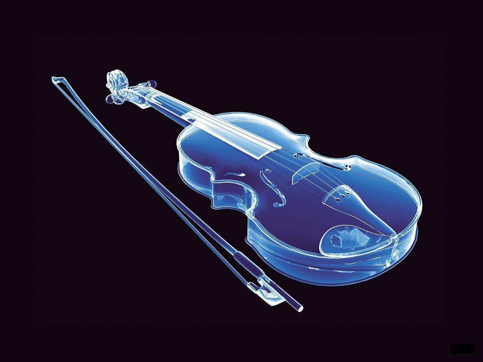 3d music wallpaper glass violin 1 600Ã 1 200 pixels