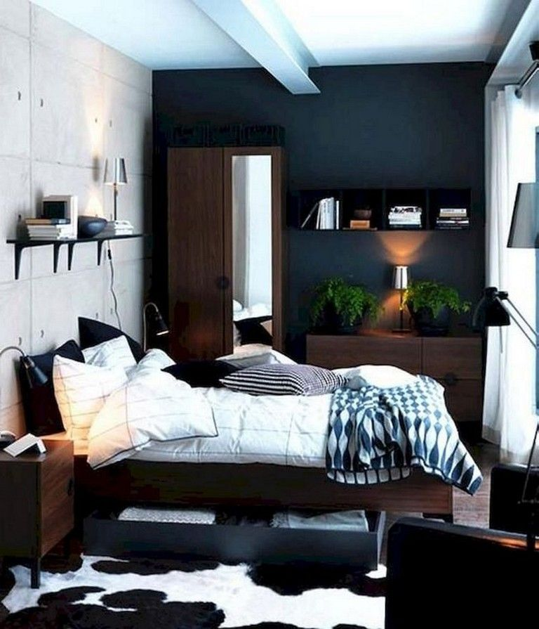 30 Cozy And Simple Modern Bedroom Ideas For Men Page 31 Of 31 Small Bedroom Interior Ikea Bedroom Design Small Bedroom Decor