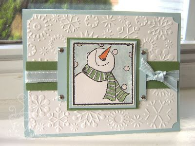 Jill's Card Creations: Let it Snow