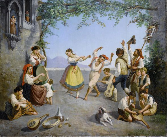 Image result for paintings and artwork of the tarantella
