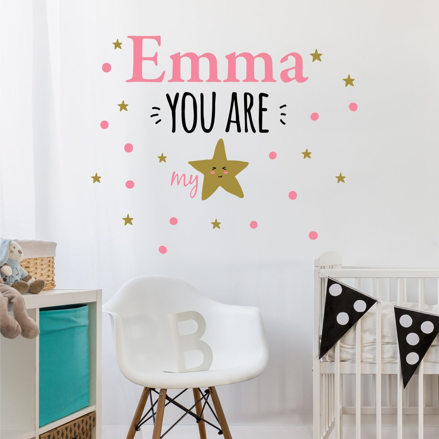 You Are My Star Personalized Custom Vinyl Wall Decal Sticker - Large custom vinyl wall decals