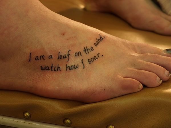 9bae0d1c1 absolutely in love 25 Refined Foot Tattoos Quotes | Inspiring Tattoo ...