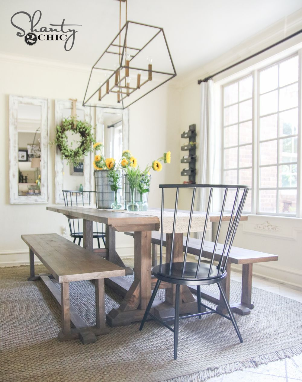 Diy pottery barn inspired dining table for 100 pottery for Diy barn table
