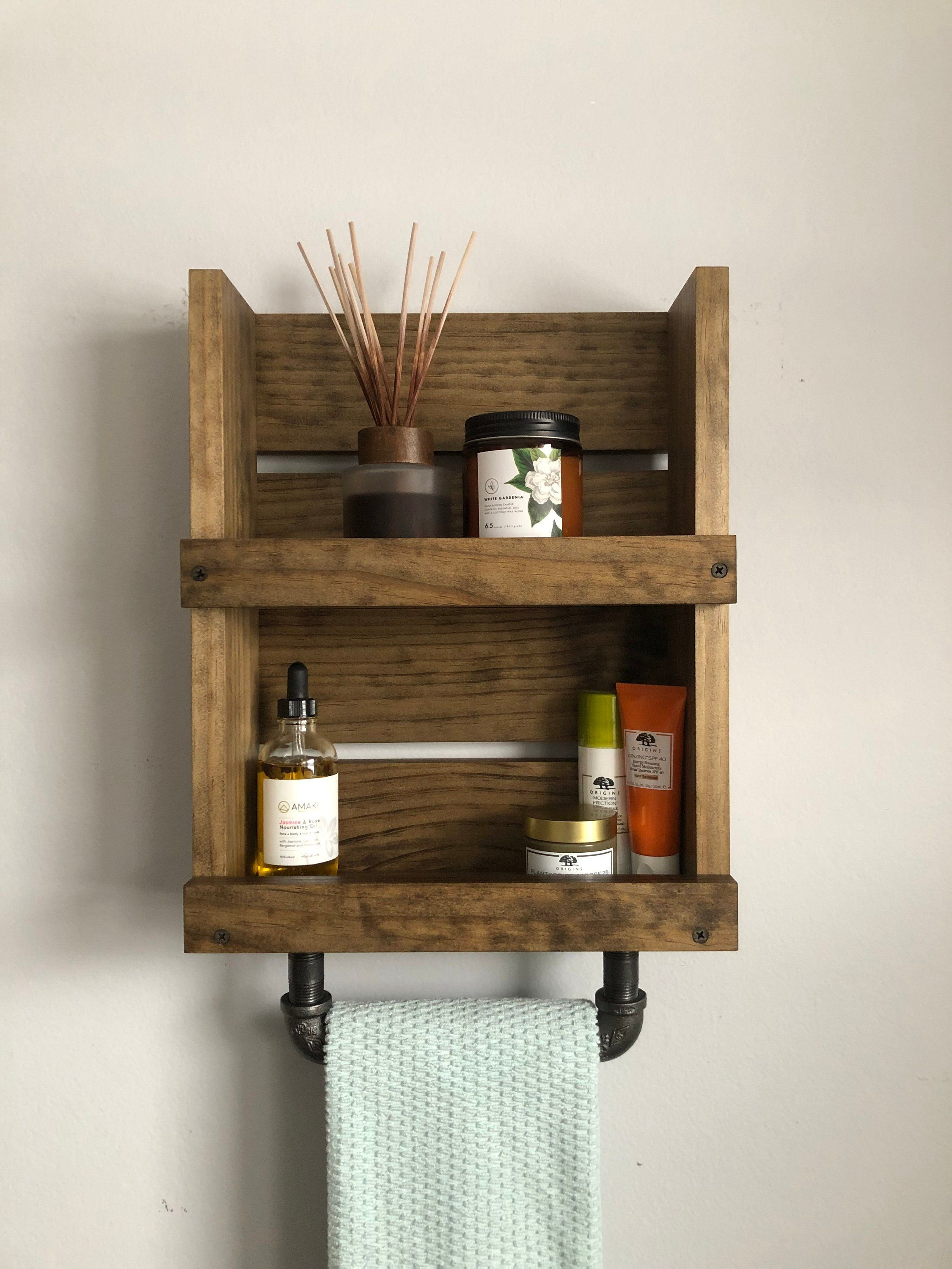 New Item Small Shelf With Towel Bar Wall Mounted Shelf With