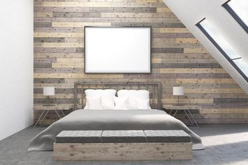 Modern bedroom with bedside tables