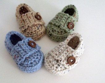 Baby Boy Shoes Baby Loafers Crochet Shoes by ButterflyKisses4Baby