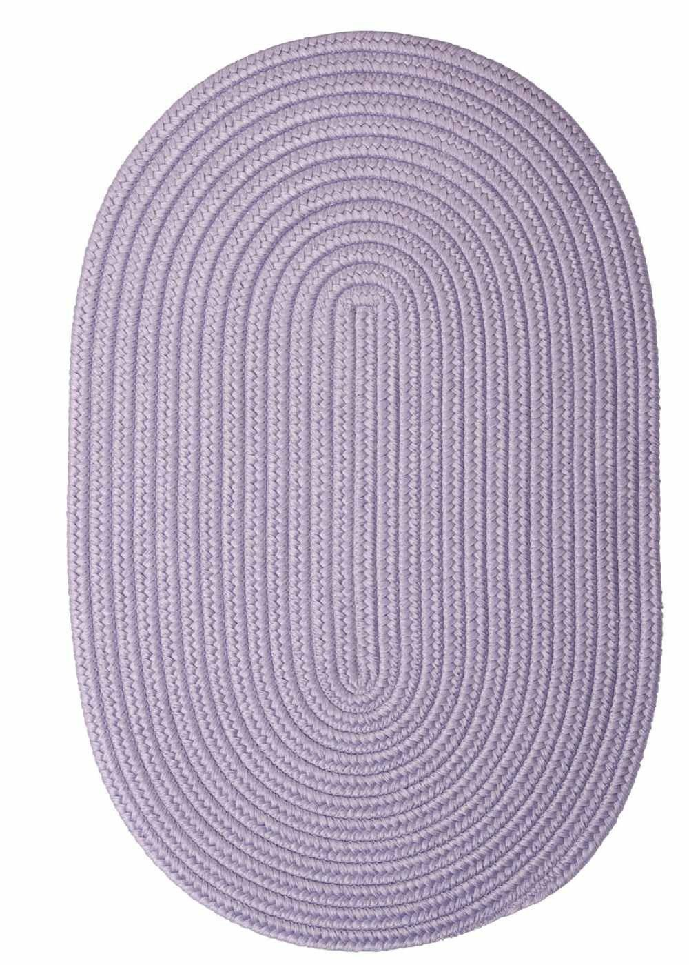 Purple Oval Braided Rug Indoor Outdoor Made In Usa