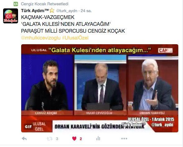 Türk Aydını™⭐️ @turk_aydn  KAÇMAK-VAZGEÇMEK 'GALATA KULESİ'NDEN ATLAYACAĞIM' PARAŞÜT MİLLİ SPORCUSU CENGİZ KOÇAK  @mhulkicevizoglu #UlusalÖzel