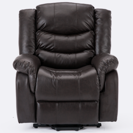 Cheshire Leather Rise Recliner Chair in Brown | Recliner