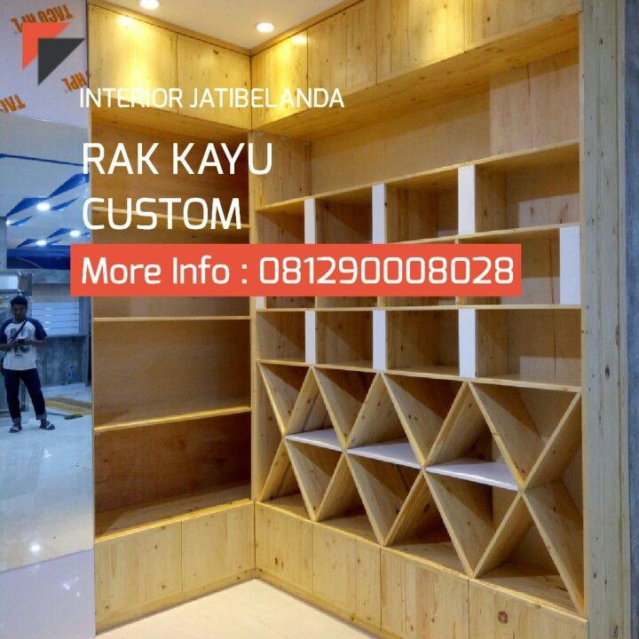 Retail Furniture Bandung: Rak Kayu Jati Belanda, Service Area JABODETABEK, Bandung