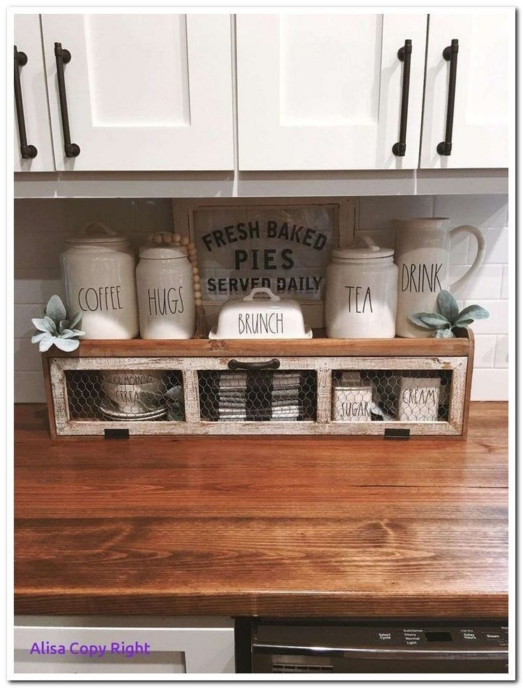 P I N T E R E S T Jacquerosee Kitchen Counter Decor