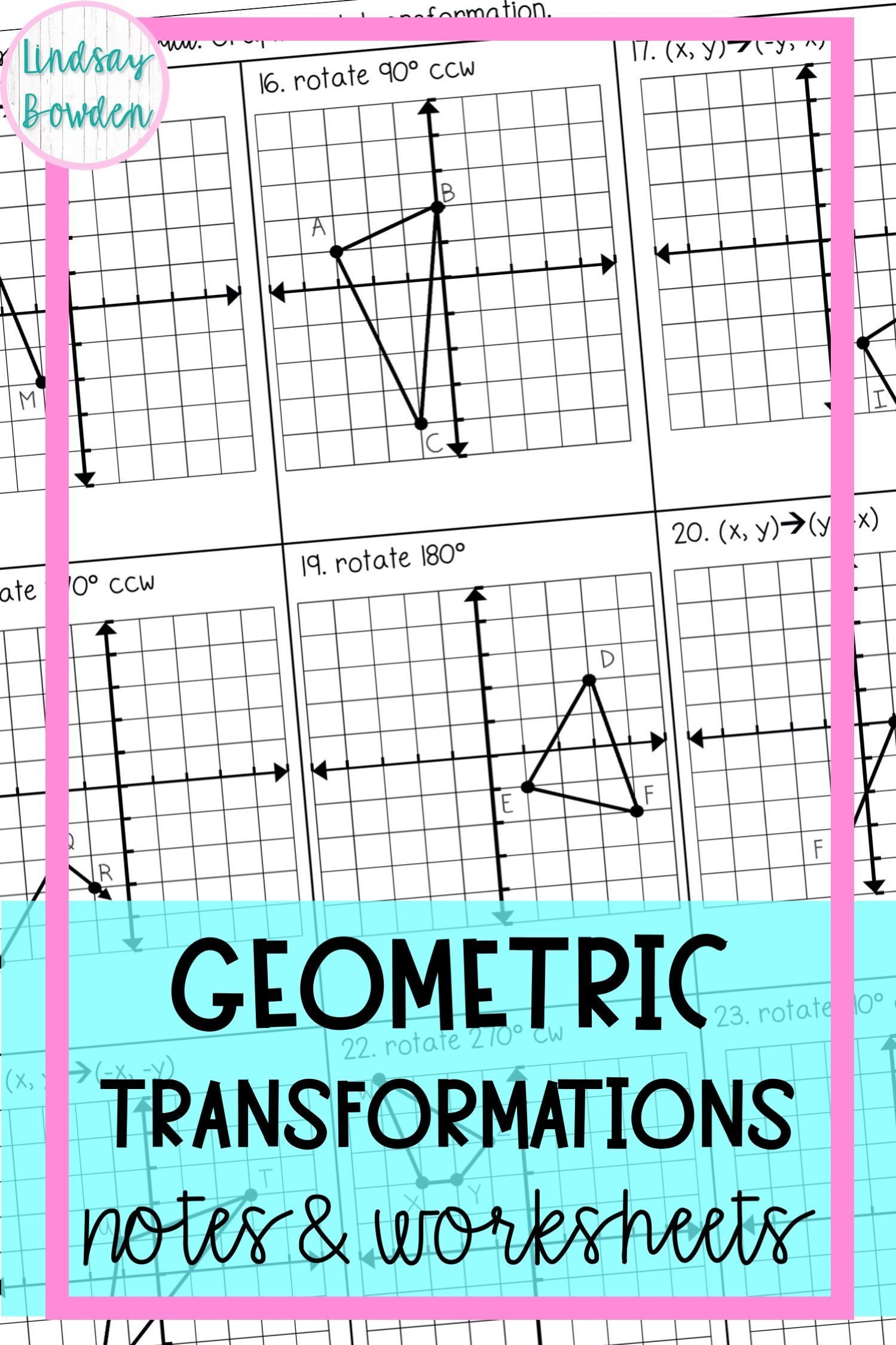 Transformations Notes And Worksheets In 2021 High School Geometry Notes Secondary Math Geometry Notes [ 2249 x 1499 Pixel ]