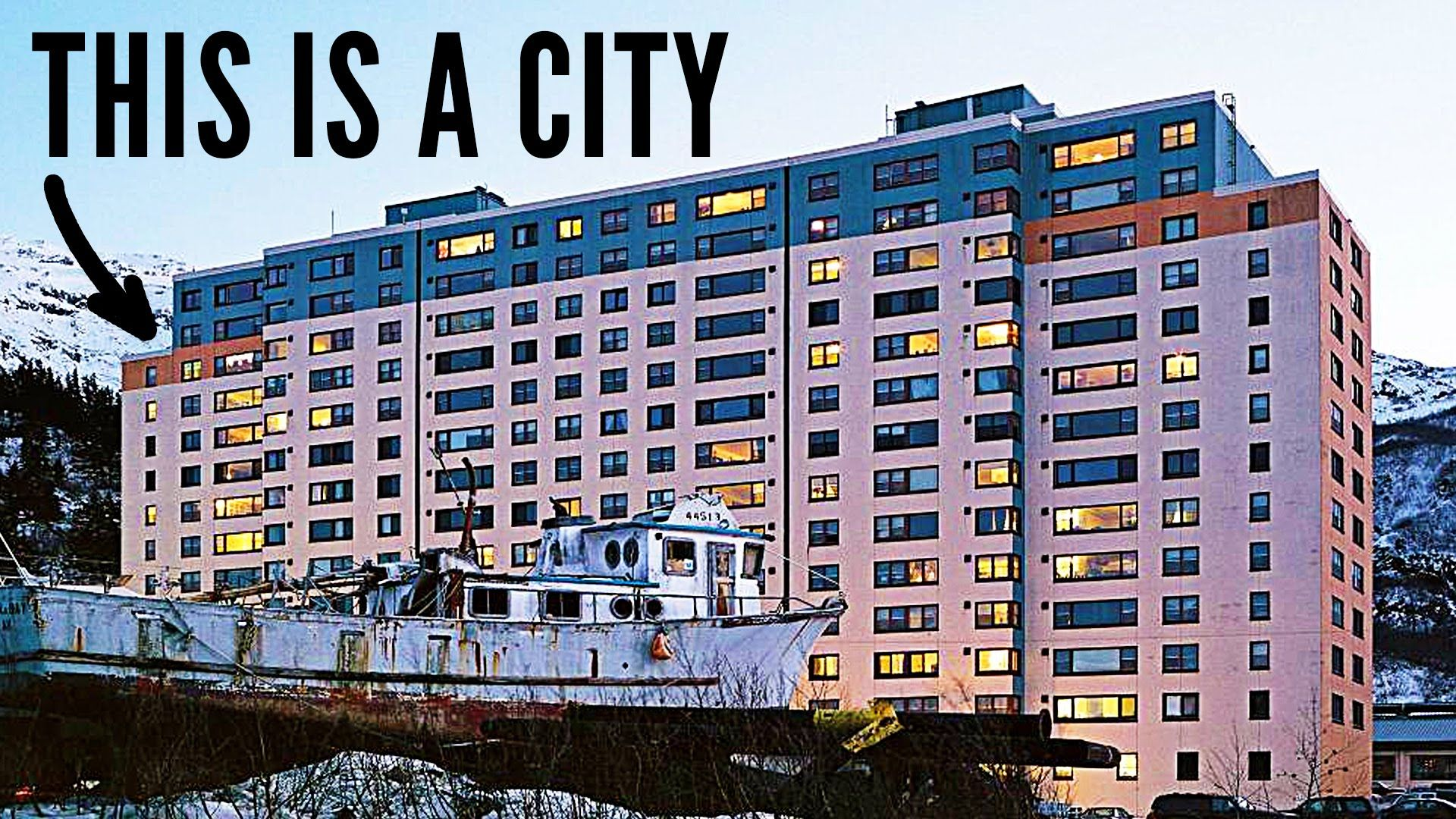 Every Person In This City Lives In One Building With Images City Weird Town Places In America