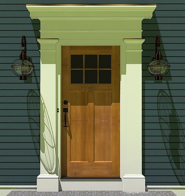 Door Surround 2011 12 25 Craftsman Front Doors Craftsman Exterior Door Front Door Molding