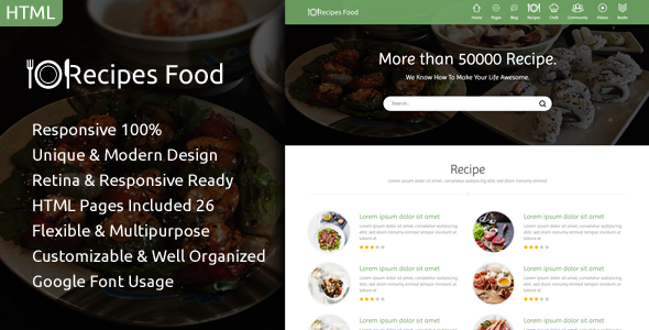 Recipes food food recipes html template recipes food food recipes html template httpsthemekeeper forumfinder Images