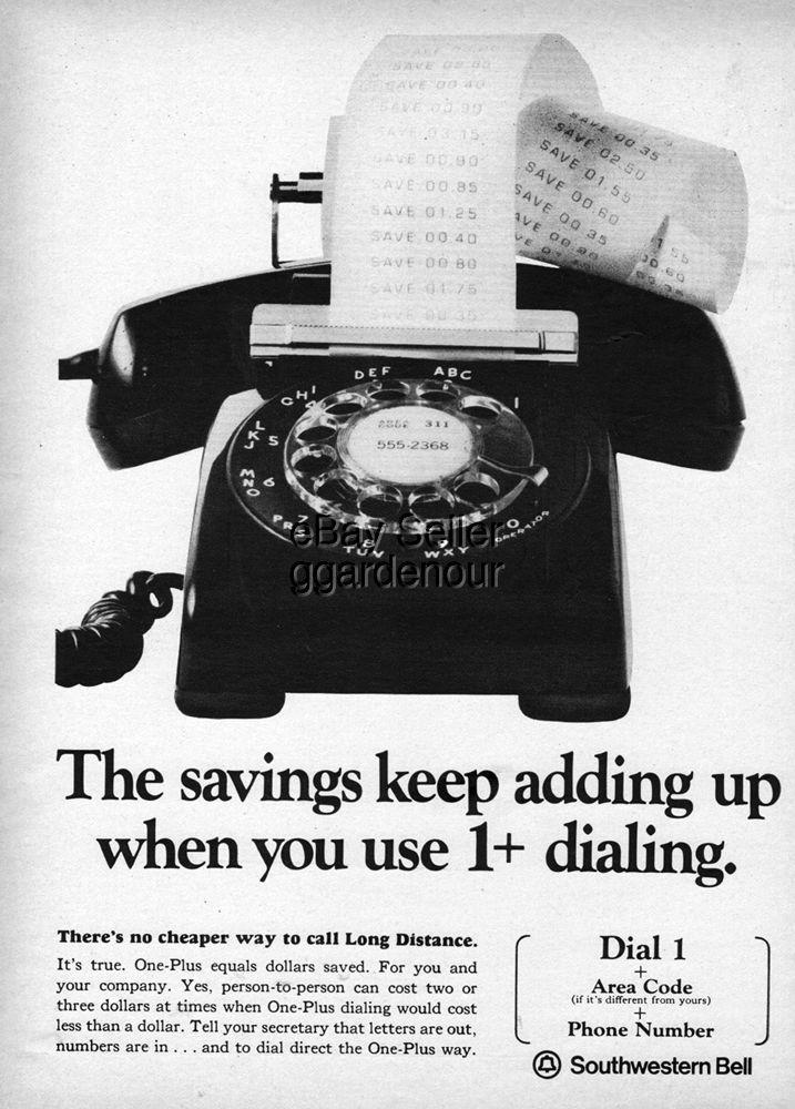 Southwestern Bell Rotary Dial Phone Photo Original Magazine