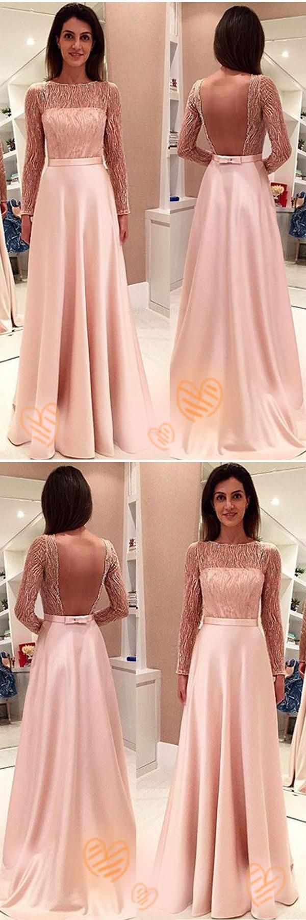 Pink prom dresses backless prom dresses cute prom dresses prom