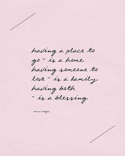 home family blessings Positivit¨