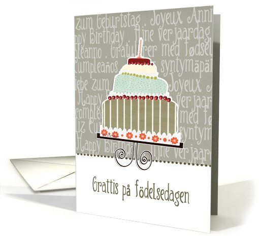 grattis p Grattis p  f delsedagen, happy birthday in Swedish, cake  grattis p