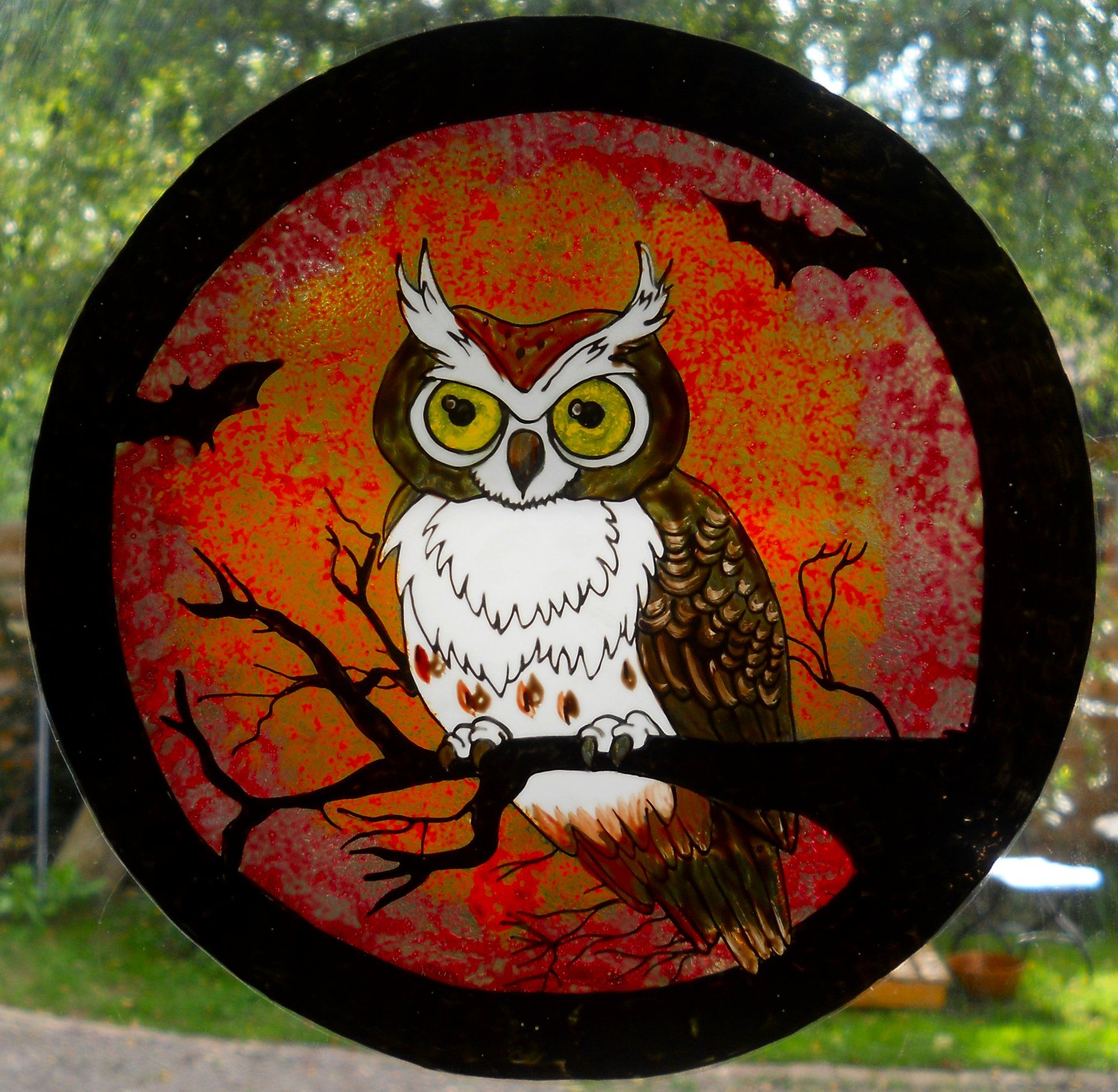 HALLOWEEN WINDOW CLING | Glass Painting ideas an projects ...