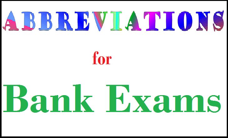 List of Important Abbreviations for Banking and government