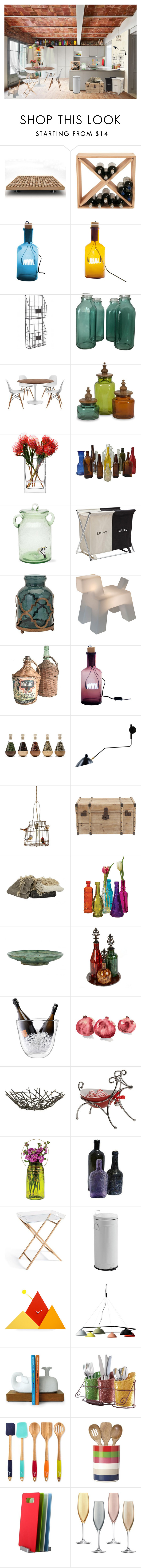 """Kitchen II"" by valentina-jerkovic ❤ liked on Polyvore featuring interior, interiors, interior design, home, home decor, interior decorating, mg12, ZENTS, Home Decorators Collection and LSA International"