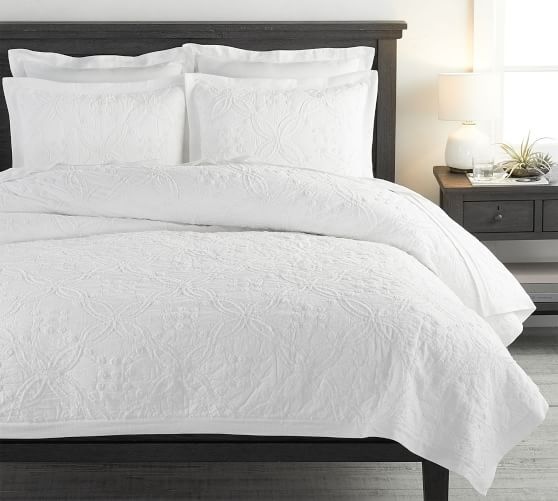 Closeout Martha Stewart Collection Damask Trace White Quilts Reviews Quilts Bedspreads Bed Bath Macy S White Quilt Bedding White Bedding White Quilt