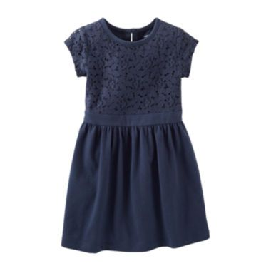Carter's® Cap-Sleeve Lace-Trim Knit Dress – Girls 5-6x  found at @JCPenney